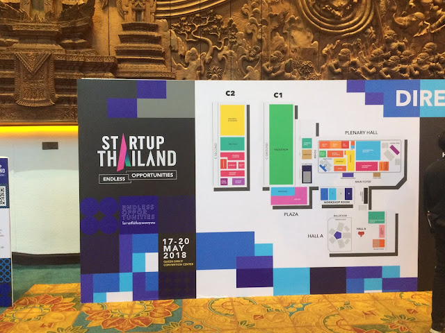 Floor map of Startup Thailand