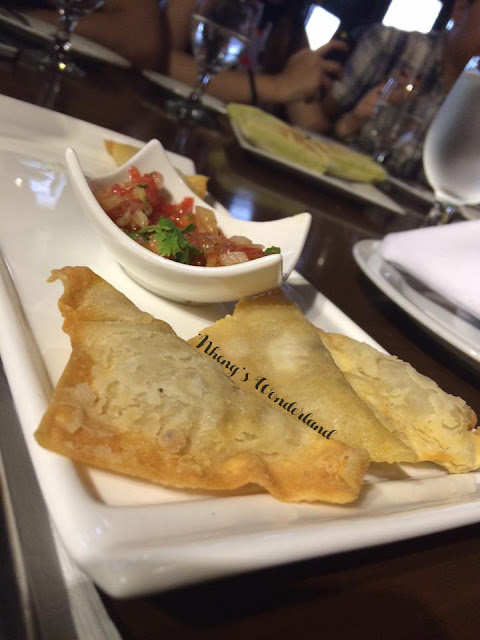 Cafe Ysabel: Jake and Cristine's Crisp Smoked Fish Wanton in Salsa Verde