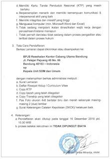 Lowongan Kerja BPJS Kesehatan Kantor Cabang Bandung