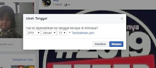 Cara Mudah Merubah Tanggal Postingan Status Facebook