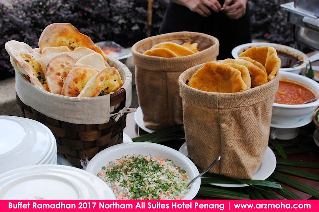 Buffet Ramadhan 2017 Northam All Suites Hotel Penang, roti arab, buffet ramadhan di penang 2017, harga buffet ramadhan di northam hotel penang, tempat berbuka puasa di penang, buffet ramadhan 2017, buffet ramadhan penang,