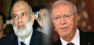 الإرهابى الهارب وجدى غنيم والرئيس التونسى الباجى قائد السبسى