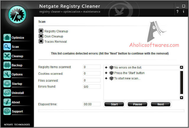 NETGATE Registry Cleaner cleans and defragment your registry, speed-up your PC, removes unneeded files on disks, removes activity traces.