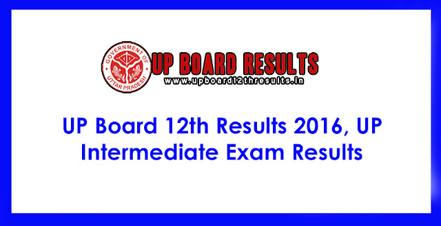 UP Board Intermediate Results 2016