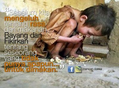 Jangan Menjelek-jelekkan Makanan, Jika Tidak Suka Tinggalkan