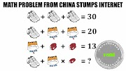MATH PUZZLE PROBLEM FROM VIRAL INTERNET.