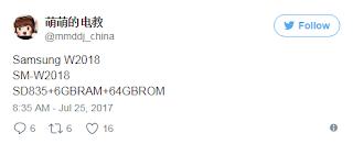 Spesifikasi Samsung SM-W2018