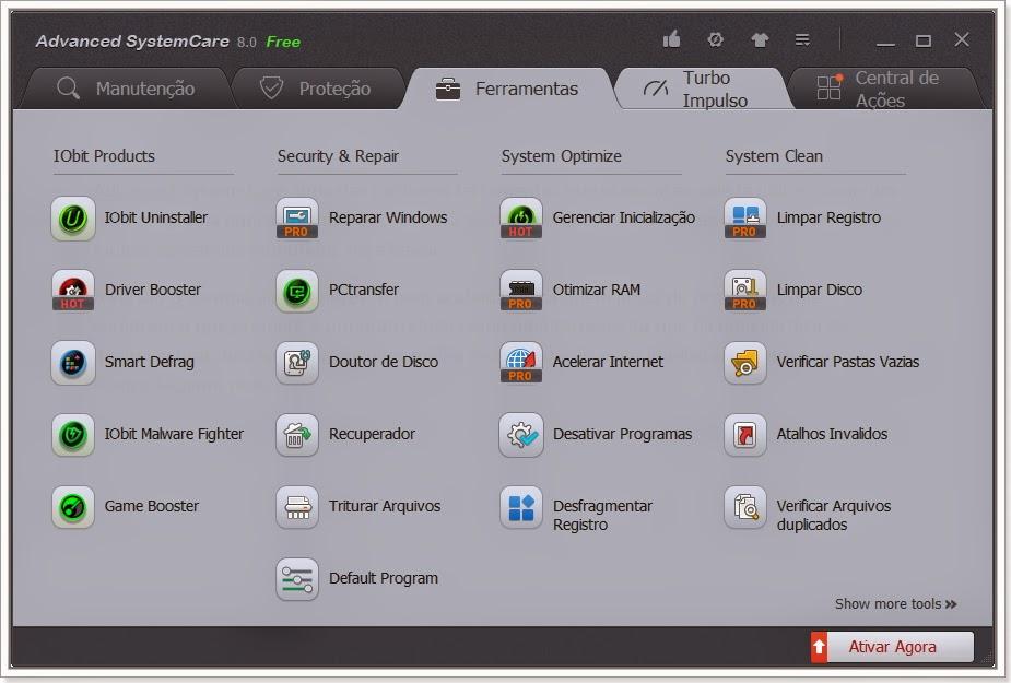 Ultima versão do Advanced System Care
