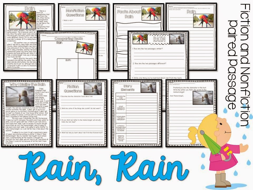 April Fiction and Nonfiction Paired Texts- all about rain