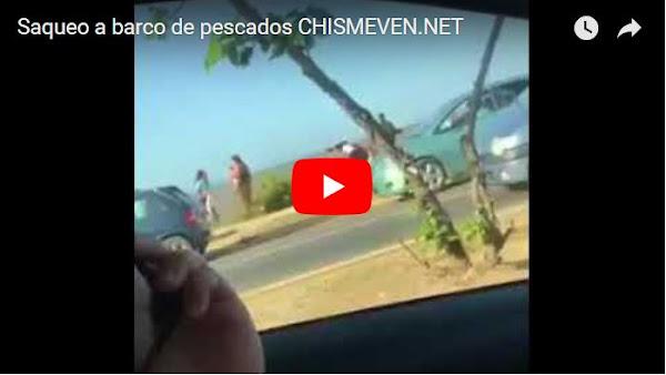 Marginales hambrientos saquearon barco lleno de pescados en Cumaná