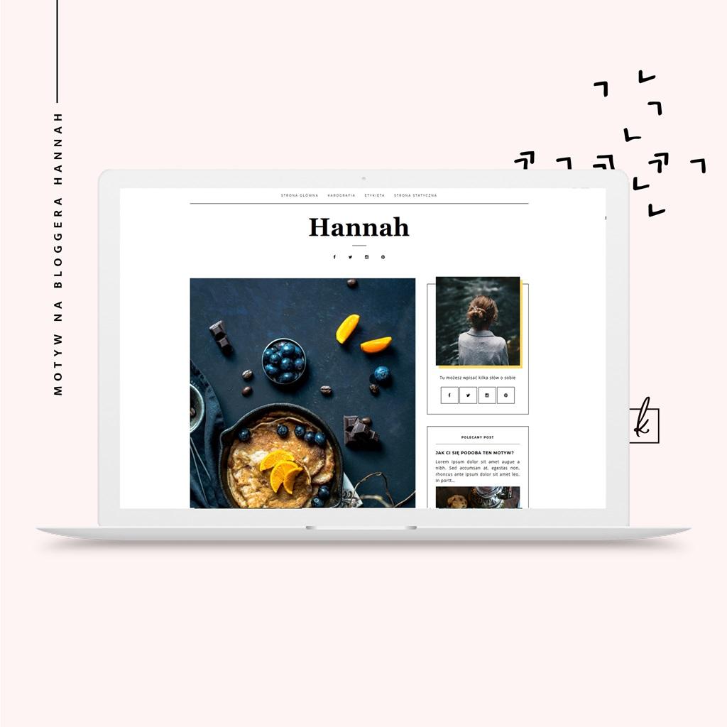 motyw na bloggera Hannah - szablon na blogspota
