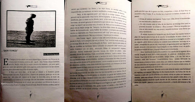 Escaneo de tres páginas de la historia Don Tomás