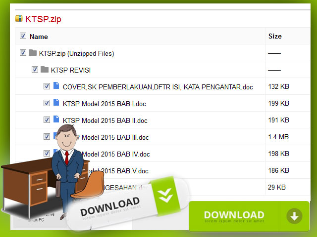 Download Contoh KTSP SD Hasil Revisi Format Words