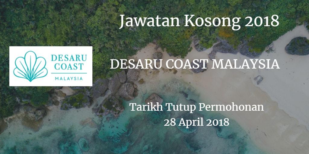 Jawatan Kosong DESARU COAST MALAYSIA 28 April 2018