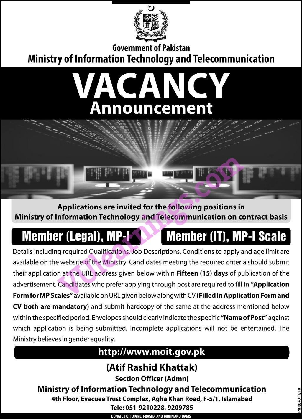 Government of Pakistan Ministry of Information Technology and Telecommunication