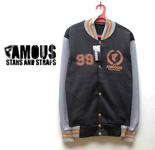 Jaket Famous Baseball bahan fleece