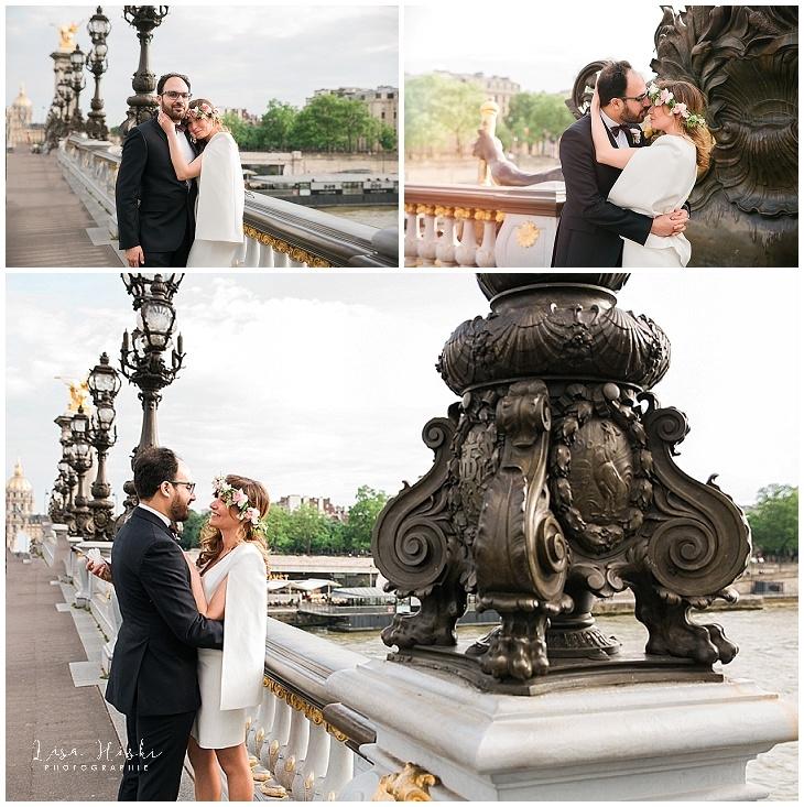 photographe mariage 16e paris tour eiffel robe mairie