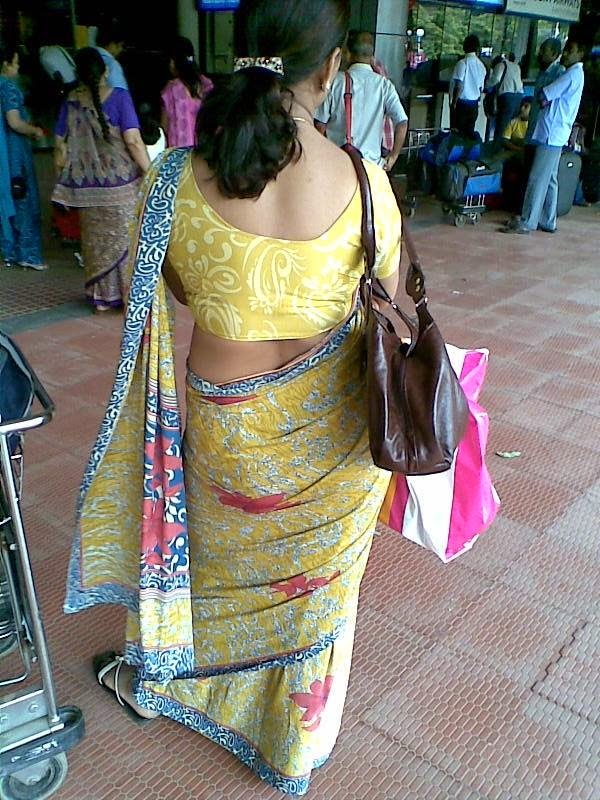 Tamil Aunties Hot Back Side View - Beauty Tamil Nadu -3039