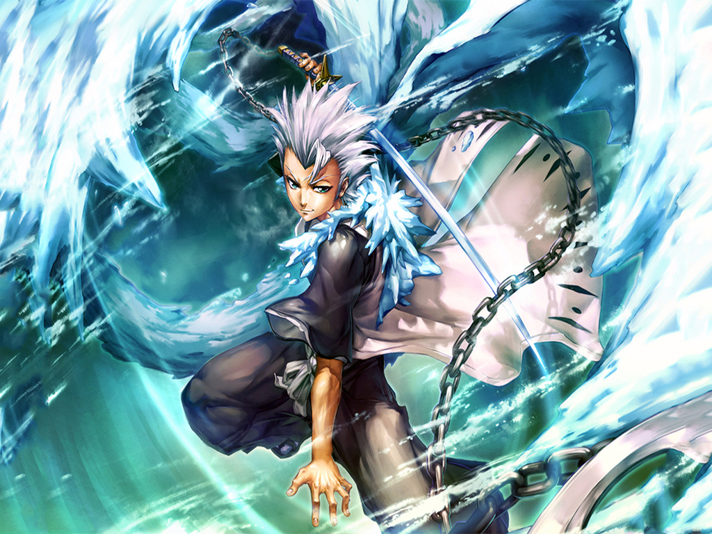 Captain Hitsugaya Toshiro Bleach Bankai Best Anime Background Wallpaper