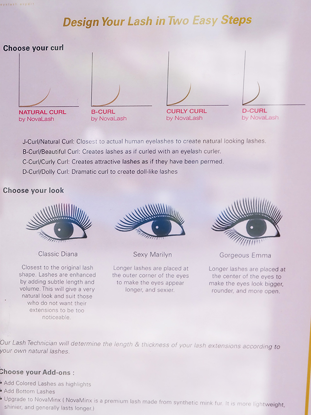 EVERLASH Lash Expert Eyelash Extension Service Menu