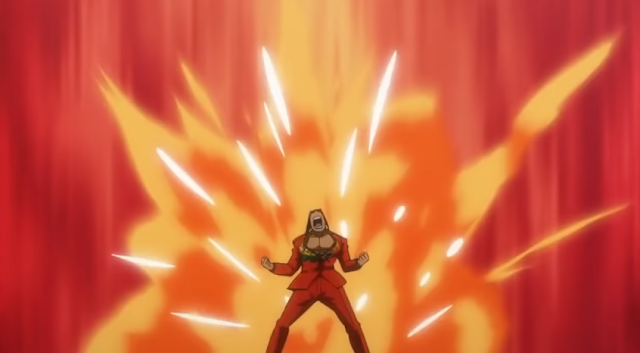 Furio Tigre Ace Attorney anime fiery explosion background
