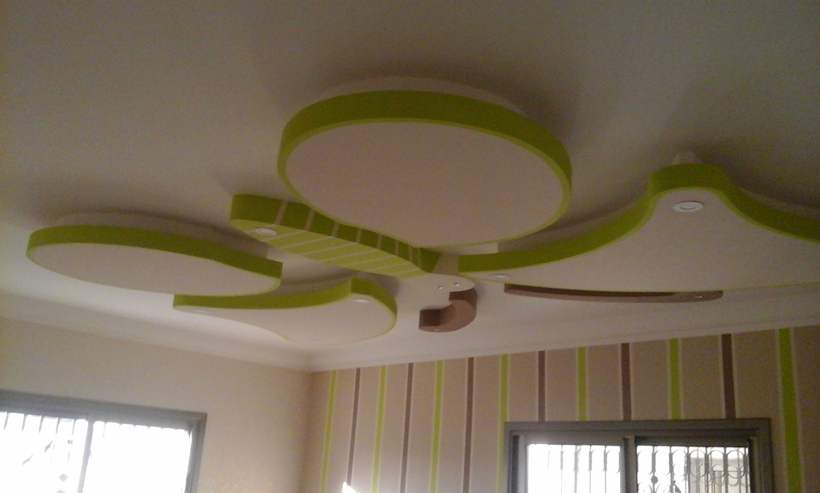 Handmade Butterfly Gypsum Ceiling Design For Kids Rooms