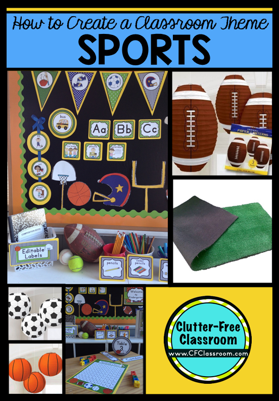 Are you planning a sports themed classroom or thematic unit? This blog post provides great  sc 1 st  Clutter-Free Classroom & Sports Themed Classroom - Ideas u0026 Printable Classroom Decorations ...