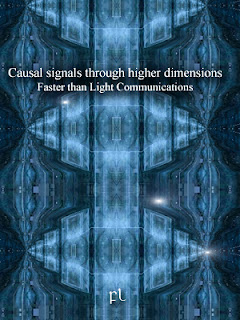 Causal signals through higher dimensions: Faster than Light Communications Cover