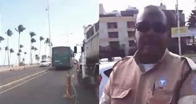"""Agente de Trânsito xinga pedestre após questionamento sobre obra: """"Vá tomar na b..."""""""