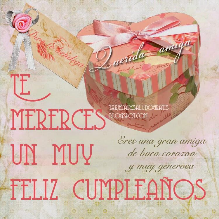 Tarjeta de Feliz cumpleaños amiga