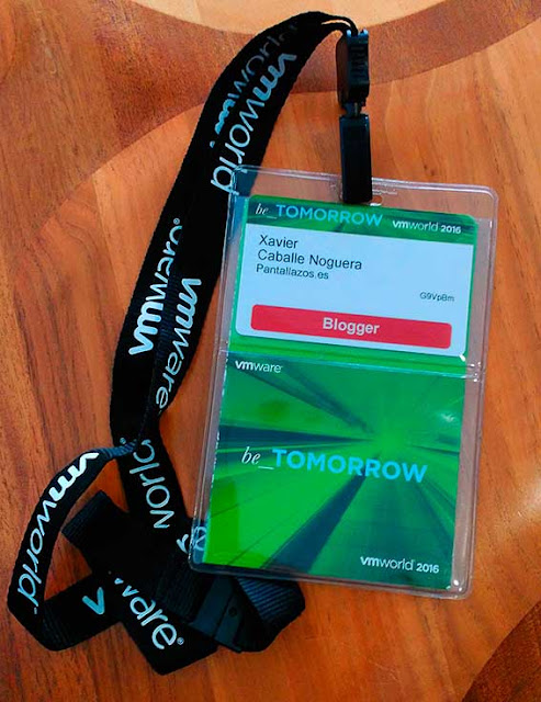 vmworld Europe 2016 Blogger Pass.