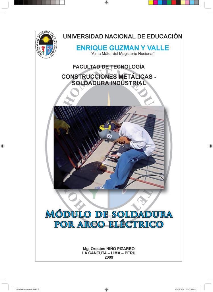 Módulo de soldadura por arco eléctrico – Mg. Orestes Niño Pizarro