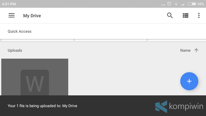google drive backup data hp yang hilang