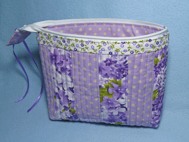 QAYG Zippered Pouch ~ Threading My Way