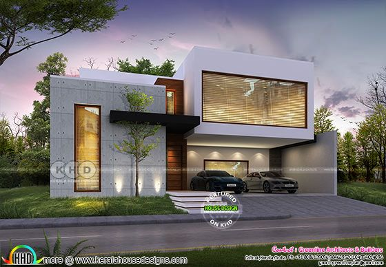 4 BHK beautiful contemporary modern home plan