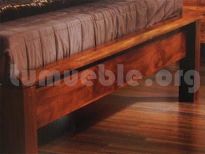 cama madera teca 4185/3