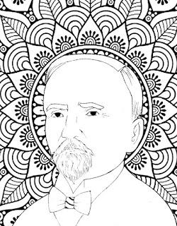 Mandala de Francisco I Madero para colorear | Mandala de la Revolución Mexicana
