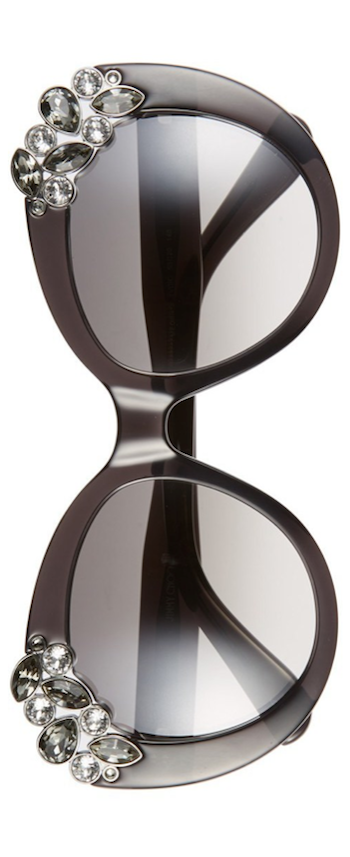 Jimmy Choo  Megan Jewel-Detail Cat-Eye Sunglasses