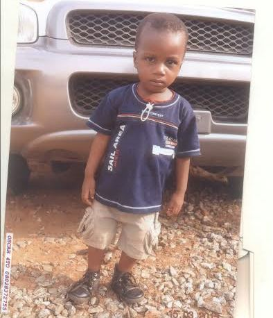 Missing 3-year old boy in Ijaniki, Lagos