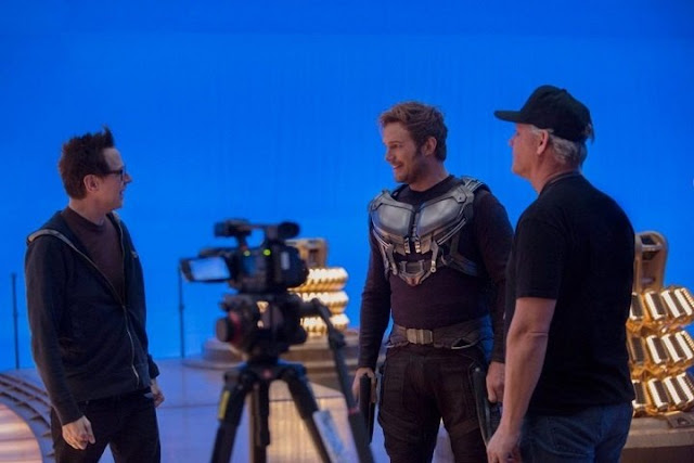 James Gunn en el set de Guardians of the Galaxy 2