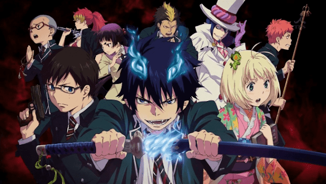 10 Rekomendasi Anime Bertema Raja Iblis - Ao no Exorcist