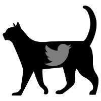 Twitter icon, black cat