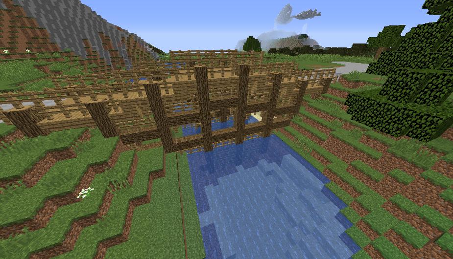 Minecraft Builds Wooden Bridge