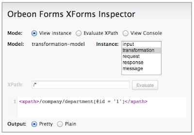 XForms inspector screenshot