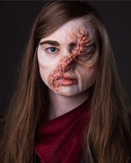 hester shaw scar make up test
