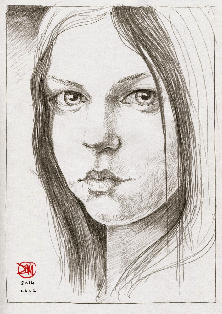 Portrait of a young woman by David Meldrum