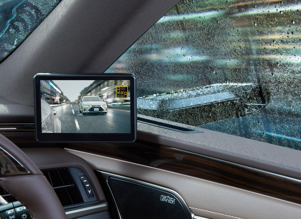 Digital Mirrors for car !!! Toyota's Lexus ES first