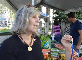 A dona de casa, Hermínia Maia, aprovou a ideia da feira