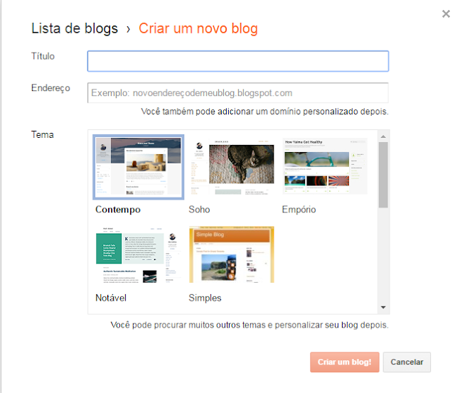 postar no blogspot
