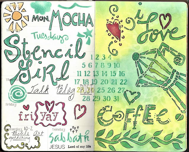 Creating with StencilGirl® Products in Your Planner